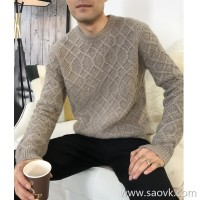 Limited special] fist cashmere elegant gentleman business elite wind twist thick men's pure cashmere sweater 4 colors
