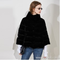 Limited special for the factory clearance small fresh high-grade velvet material ladies casual short down jacket 3 colors