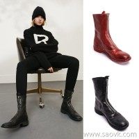 Limited special) high-end homemade Italian original horse skin 310 front zipper ladies handmade booties (5 colors