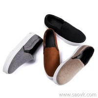 Limited special] high-end homemade lazy Loafers one foot 羊毛 wool double-faced woolen material flat shoes 4 colors