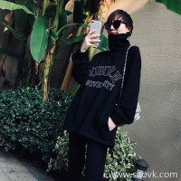 Limited pre-special] high-end homemade custom high-density thread face small high-necked inner fleece sweater * dress 2 colors