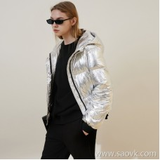 Limit special] Clearance for the manufacturer This year's hot silver down goose down padded down jacket