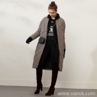 Limited pre-special] high-end homemade wool outer goose down lining warm no ice cold down jacket leather edging