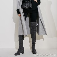 Limited special) burst praise series high-end homemade thick with JIN mouth stretch leather over the knee high boots 2