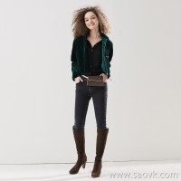 Limit special] Want to keep the chopsticks legs warm? It is plus velvet slim black gray stretch jeans