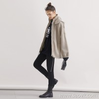 Limited special] 2019 early spring models JIN mouth wire space cotton casual wind hooded sweater cardigan coat 2 colors