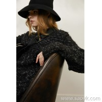 Limit special] for the clearance of the couple for the couple. Peru JIN alpaca long sleeve sweater (2 colors)