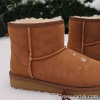 Limited special) high-end homemade original out of the classic and wearable fur snow boots (low tube 3