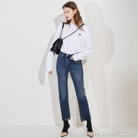 High quality, beautiful color, high elasticity, inner lining, no icy, ladies casual jeans