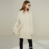 Limited special] fist cashmere lazy magic weapon thick pure cashmere material solid color hooded knit dress 4 colors