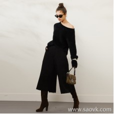 Limited special) limited high-end homemade counters 58,000 original annual meeting rolling full temperament suede sheepskin culottes