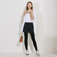 Limit special] cost-effective, exquisite, thick, front, double-breasted design, ladies casual pants, woolen shorts