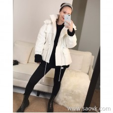 Limited special) limited dozens of fabrics foreign trade single stereo jacquard fabric white duck down jacket cardigan coat