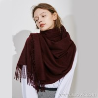 Limited special high-end pure cashmere scarf from Inner Mongolia, very beautiful high-saturation color 17 colors