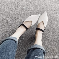 Limited special) high-end homemade, fashionable and stunner, comfortable and pointed, comfortable lambskin flat shoes (3 colors)