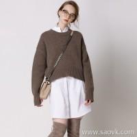 牦 )) DU design and development of yak velvet series round neck sweater 3 colors