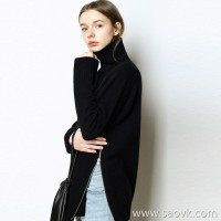 限 特] chic silhouette, careful machine, zipper, high collar, long sleeve wool sweater, women's 3 colors