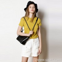 Limit speciality] Pragmatism Light and thin shape Refreshing round neck solid color ladies casual short-sleeved T-shirt (5 colors