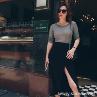 Limited special] good quality and low price for your matching small perspective high elastic thin bottom T women 3 color