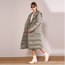 The original factory is the same as the counter! Marshmallow-like acquisition of the hooded goose down jacket (2 colors