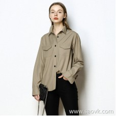 Limited special] high-end homemade Japanese fabric crazy recommended! Exquisite single-breasted shirt Women's clothing (5 colors)