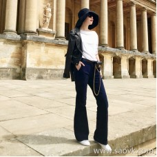 Limited special) high-end homemade slimming can not be ~ three-dimensional striped corduroy wide leg casual pants trousers 2 colors