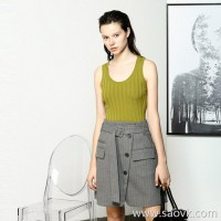Limited special] shop word of mouth series fine exquisite pit strips slim sleeveless merino wool vest 5 colors