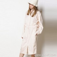 Limited special) pure tail high quality! Silky smooth soft texture Women's solid long-sleeved loose dress