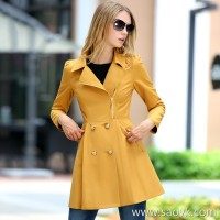 Mid-length windbreaker female 2018 autumn and winter new Hong Kong-style temperament slim slim double-breasted small fragrance casual jacket