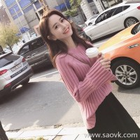 Sandro Moscoloni2018 autumn and winter new Korean version of the small fragrance long-sleeved sweater suit skirt two-piece