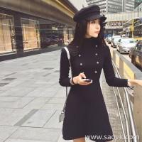 Sandro Moscoloni knit dress female Korean version 2018 new autumn and winter slim slimming skirt