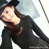 Sandro Moscoloni long-sleeved knit retro black dress autumn and winter new temperament slim inside dress
