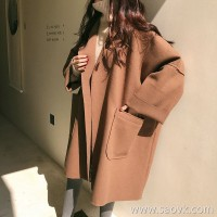 Sandro Moscoloni woolen coat female 2019 new Hepburn vintage cloak woolen coat in the long section