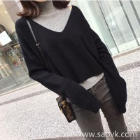 Sandro Moscoloni loose sweater suit female autumn and winter new high neck vest sweater two sets of tide