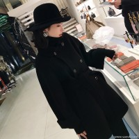 Sandro Moscoloni double-faced cashmere coat female long section 2019 new small man wool coat tide