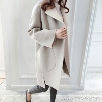 Sandro Moscoloni double-faced cashmere coat female long section 2018 new small man wool coat tide