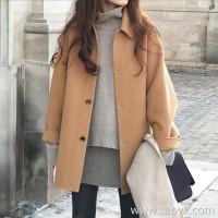 Sandro Moscoloni cashmere coat female small 2018 new Hepburn wind short woolen coat winter