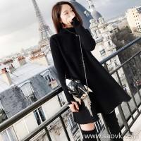 Sandro Moscoloni women's 2018 autumn and winter new knit dress long sleeves slim temperament little black dress