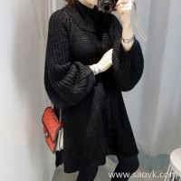 Sandro Moscoloni autumn and winter new cashmere sweater women loose lazy wind long section bottoming sweater