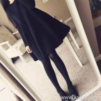 Sandro Moscoloni 2018 autumn and winter new knit dress Slim thin black dress A word skirt