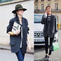 Sandro Moscoloni autumn and winter new small suit women's jacket loose long section Mori wool coat