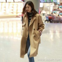 Sandro Moscoloni double-faced cashmere coat female long section 2018 new double-breasted woolen coat winter