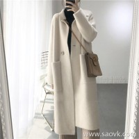 Sandro Moscoloni water velvet coat women's long section 2018 new lazy wind wild cardigan coat