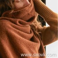 Wind home private service glutinous rice! Poison soft sterol foot yak velvet irregular warm shawl bib WP0166