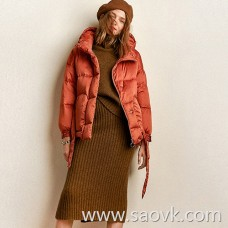 Look for alcohol yak velvet all seasons drunk warm micro high collar double pocket warm sweater / half skirt LT0084