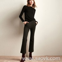 The wind home is very upright! Modified leg type elastic thickening winter slim thin trousers to feed KZ0403