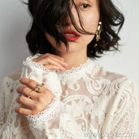 Wind home is shocking and beautiful! Retro heavy work complex embroidered lace silk blouse BY0380
