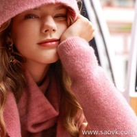 Wind home, start! Italian yak velvet BABY YAK 慵 lazy high lapel sweater MZ0822
