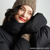 Wind home with goose down pillow and ultra light fabric super warm white goose down jacket down jacket YR0103