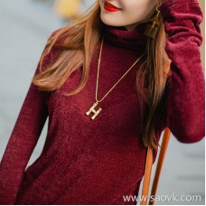 Wind home soft fluffy little magnificent! Stretch velvet multicolor slim stack collar comfortable bottoming shirt MZ0861